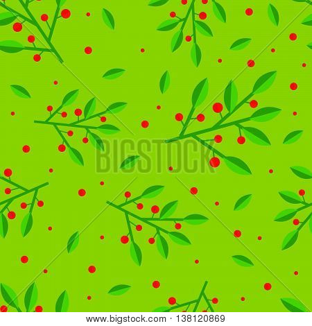 Cute and simple cowberry seamless pattern. Flat style.