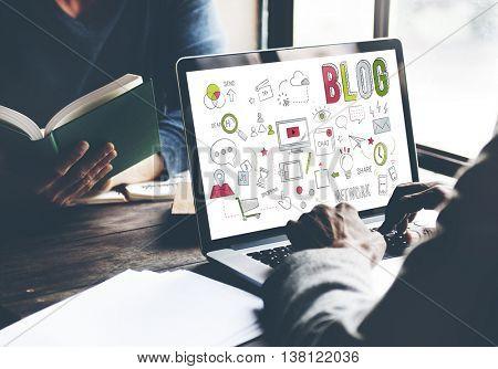 Blog Blogging Networking Digital Connection Concept