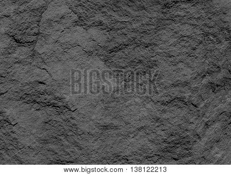 Background Pattern Natural Dusty Black Slate Background or Texture with Copy Space for Text Decorated.