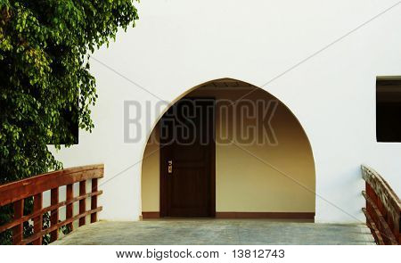 Arch gate and door