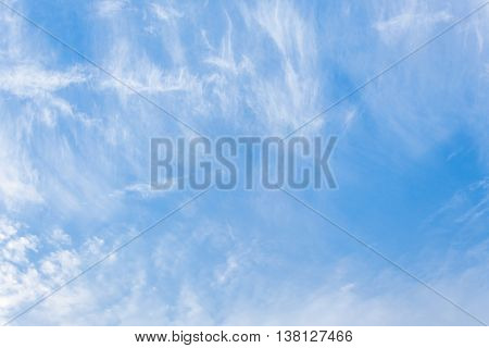 blue sky and cloud beautiful Colorful vivid in nature background