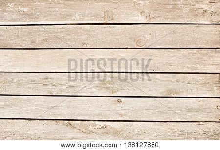 Light brown scratched wooden planks, wall, table, ceiling or floor surface. Wood texture.