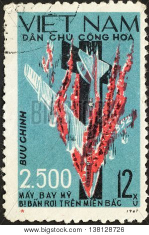 MOSCOW RUSSIA - CIRCA DECEMBER 2015: a post stamp printed in the NORTH VIETNAM the series