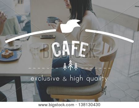 Cafe culture Coffee Break time Cafe Cafeteria Concept