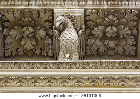 Church of the Holy Cross in Lecce Basilica di Santa Croce detail dragon