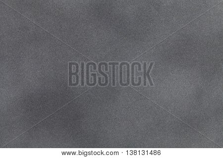 Light gray suede fabric closeup. Velvet texture background