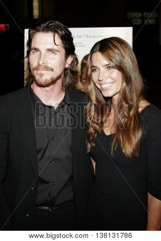 Christian Bale and Sibi Blazic at the Los Angeles premiere of 'Harsh Times' held at the Crest Theater in Westwood, USA on November 5, 2006.