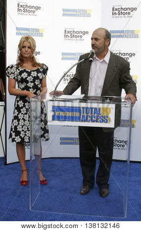 Jessica Simpson and John Antioco, Chairman and CEO of Blockbuster Launch Blockbuster Total Access held at the Kodak Theatre in Hollywood, USA on November 2, 2006.