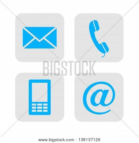 Web contact icons - vector illustration. Contact icon.