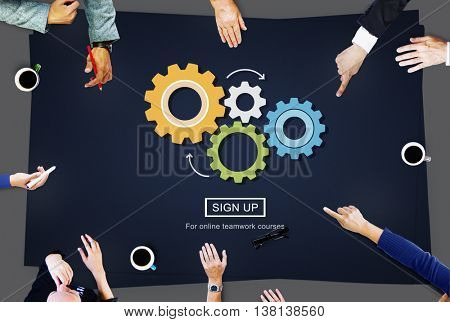 Process Think Collaboration Cog Mechanism Concept