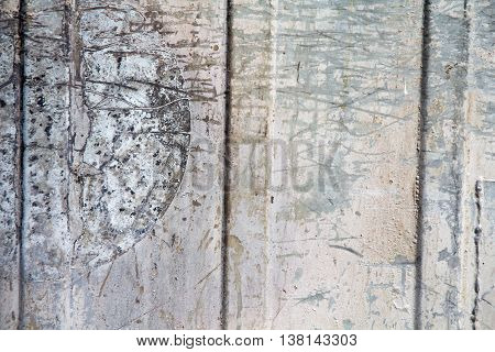 texture background rusty metal plates with dents and scratches