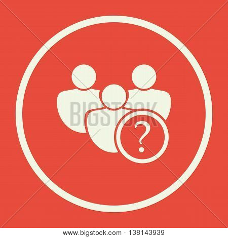 User Help Icon In Vector Format. Premium Quality User Help Symbol. Web Graphic User Help Sign On Red