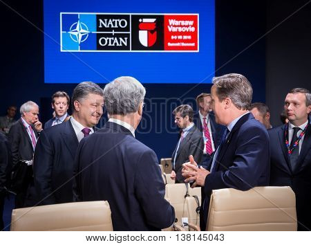 President Of Ukraine Petro Poroshenko At Nato Summit In Poland