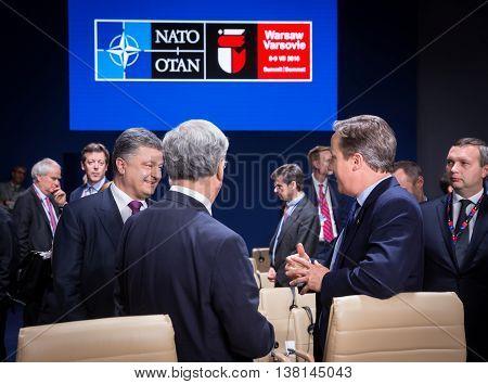 President Of Ukraine Petro Poroshenko At Nato Summit In Poland