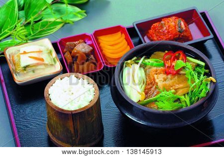 Korea traditional food fish soup