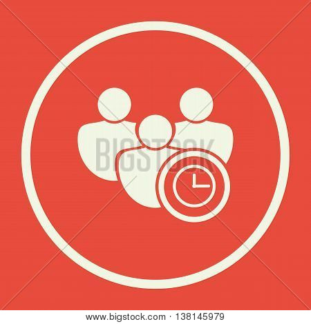 User Time Icon In Vector Format. Premium Quality User Time Symbol. Web Graphic User Time Sign On Red