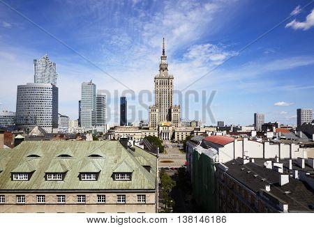 Panorama Warsaw City, Poland