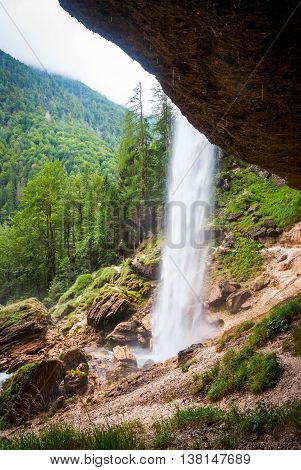 Pericnik Waterfall In Slovenia