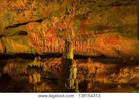 limestone cave stalactite stalagmite Prometheus georgia multicolor