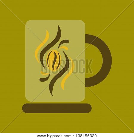 flat icon on stylish background coffee cup flavor