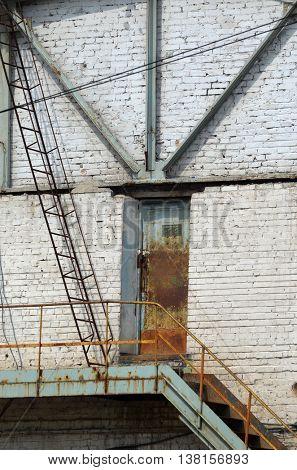 Abandoned industrial complex.July 12, 2016 Kiev, Ukraine