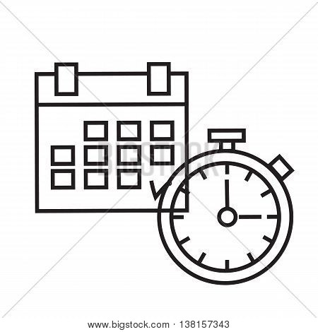 concept of time. Planning time Icon Linear art. I