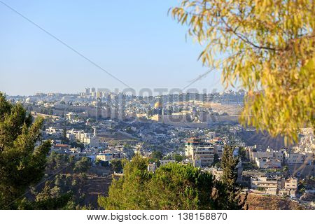 Jerusalem capital of Israel view on Temple mount