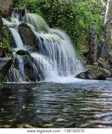 pretty waterfall (slow shutter speed for cascading water softening)