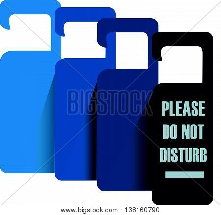 Please do not disturb. Flat style icon with long shadow