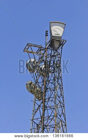 Legacy Microwave Tower Used to Link Telecommunications Locations