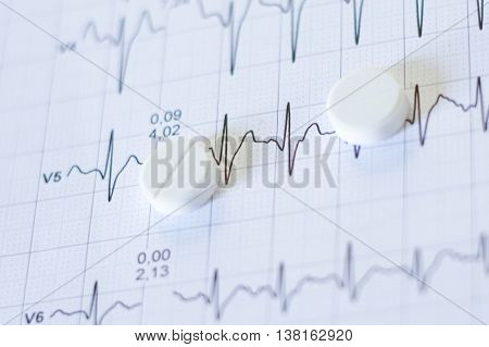 Pills For Bp On A Electrocardiogram Papers