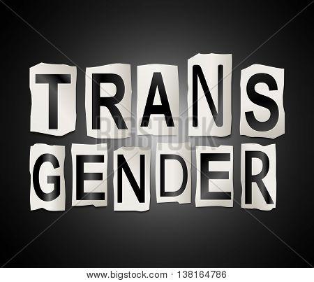 Transgender Word Concept.