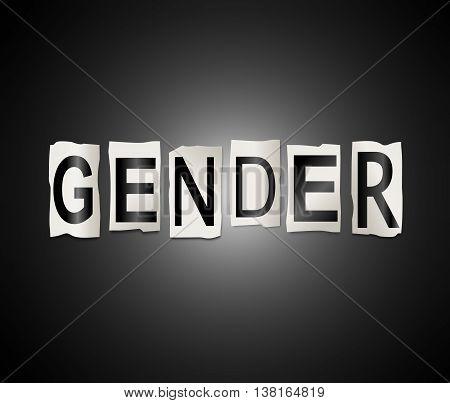 Gender Word Concept.