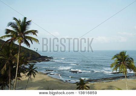 Tropical beach in Vagator,India