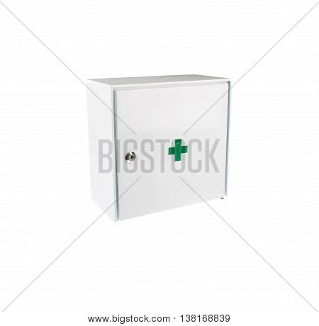 First Aid Box / Cabinet Isolated On White Background