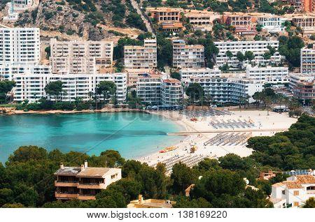 Beautiful view of Santa Ponsa and the beach Mallorca