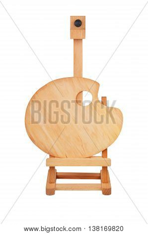 Wooden Easel And Palette