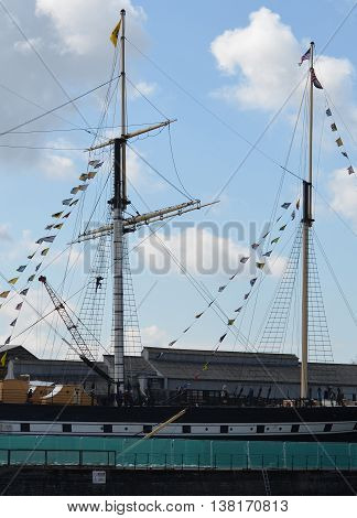 Brunel's SS Great Britain Boat Mast in Bristol