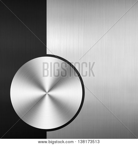 knob design with metal plate background