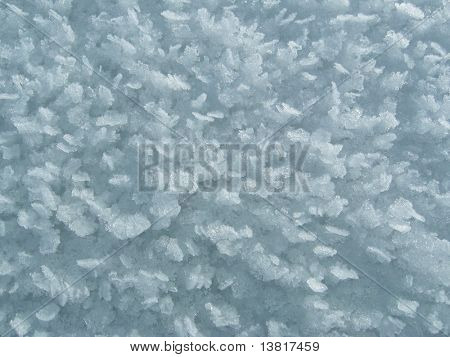 Crystal texture ice