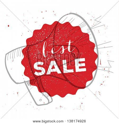 Retro style best sale badge / poster illustration