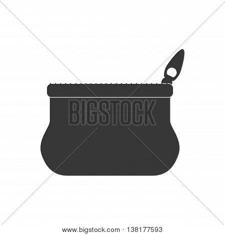 Money concept represented by coin purse icon. Isolated and flat illustration