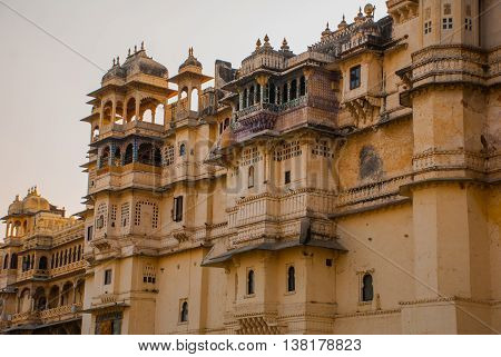 Udaipur City Palace. Udaipur, India.