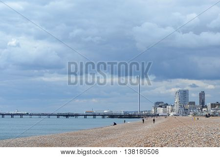 Brighton Seafront with i360 Tower in distance