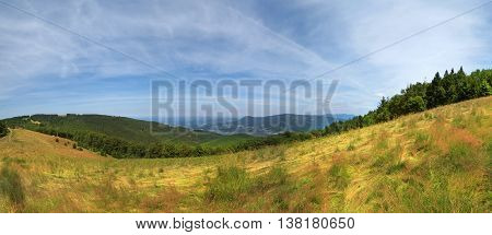 Carpathian Mountains Landscape, Poland.