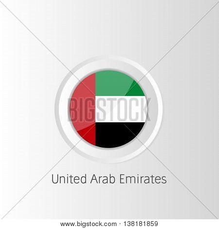 Vector circle flag of United Arab Emirates
