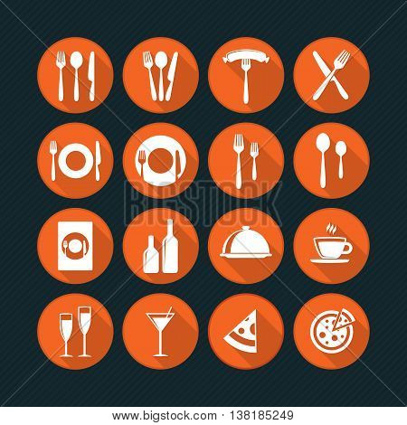 Restaurant Icon Vector Pack. Cooking and kitchen icons.