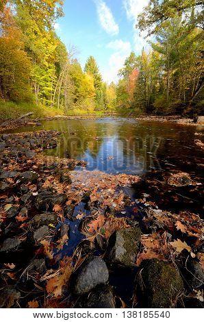 Fall Colors Along the Pine River Near Rutledge Minnesota