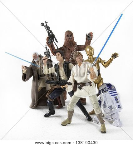 Hasbro Star Wars the Black Series 6 inch action figures from Episode IV A New Hope in an action comic book style pose
