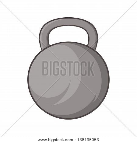 Sports weight icon in cartoon style isolated on white background. Gym symbol